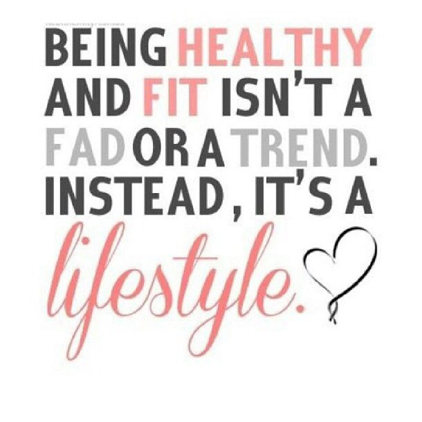 "The BEAN Plan loves this quote! ""Being healthy and fit isn't a fad or a trend. Instead, it's a lifestyle."""
