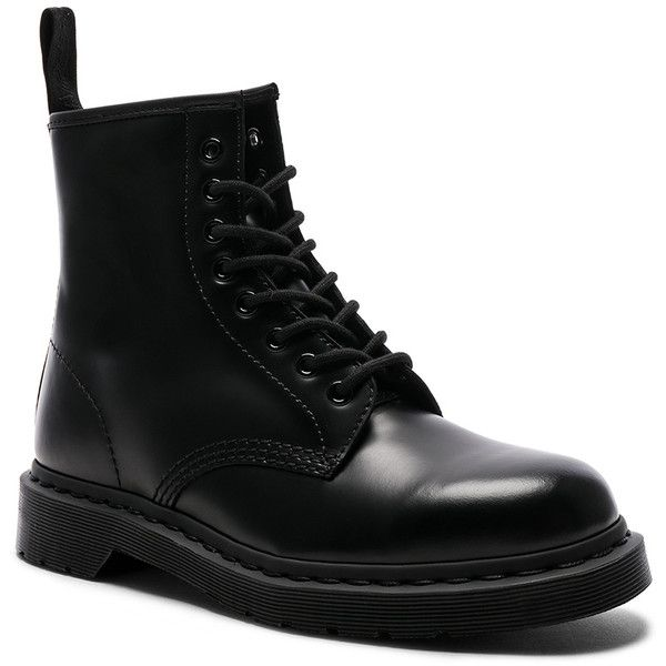 Dr. Martens Leather 1460 8-Eye Boots ($135) ❤ liked on Polyvore featuring men's fashion, men's shoes, men's boots, boots, low heel mens dress shoes, dr martens mens boots, mens leather shoes, mens leather boots and dr martens mens shoes