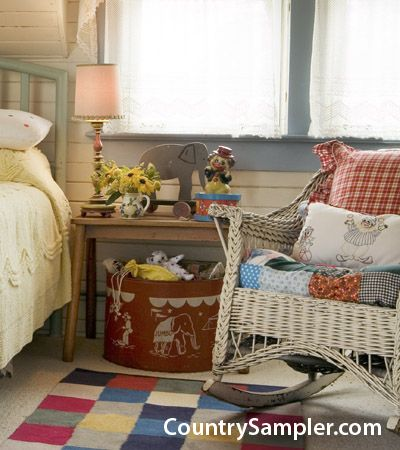 Give your home farmhouse style with lace curtains, painted trim and vintage…