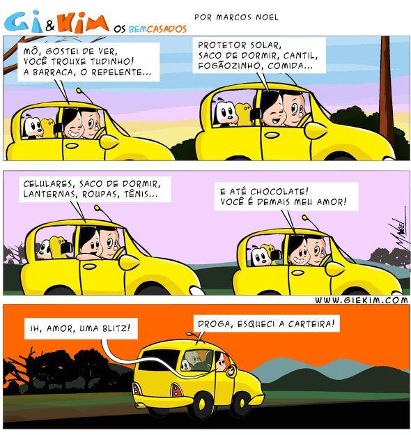 Especial Férias: Tirinha Saindo de Férias (Jan/2014) Acontece....