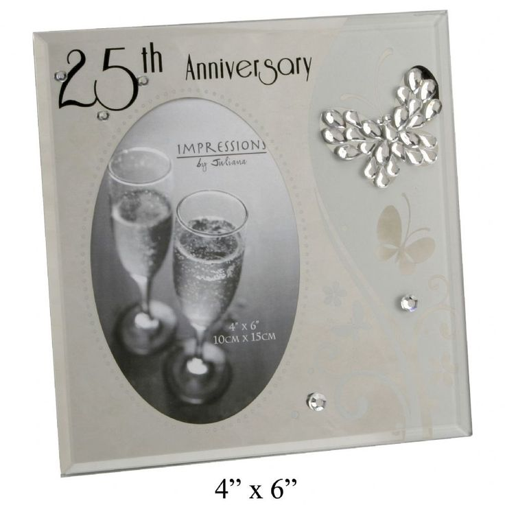 25th Wedding Anniversary Butterfly Photo Frame. Ideal gift for couple ...