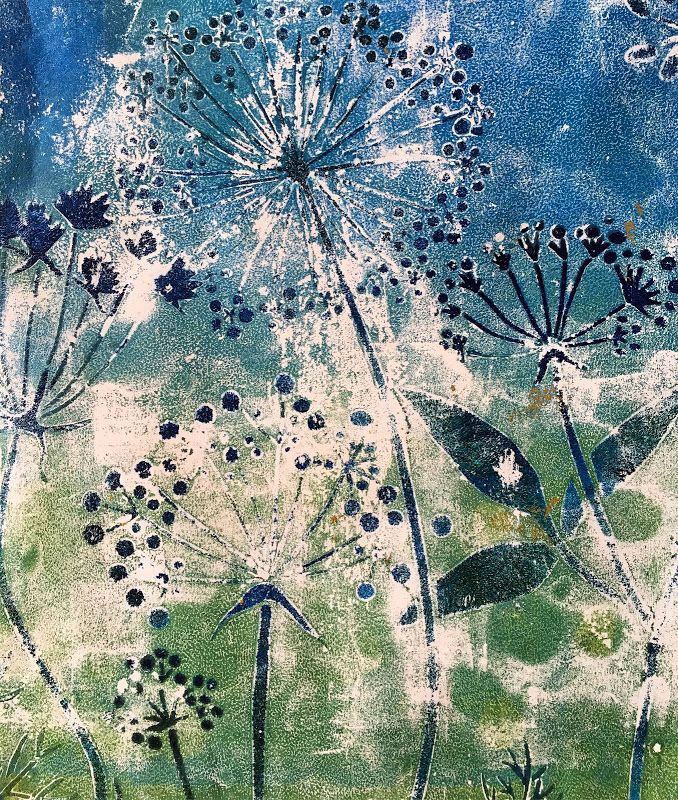 Allowing Your Paint To Dry On Your Gelli Plate Monoprint Prints