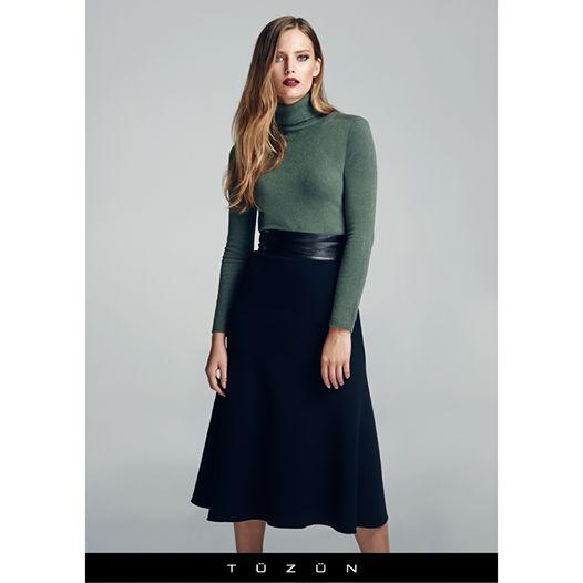 2014-2015'in en çarpıcı renklerinden haki yeşiliyle yeni haftaya önde başlayın! #stil #moda #fashion #trend #style #haki #colours #colour #green #Tuzun #TuzunGiyim