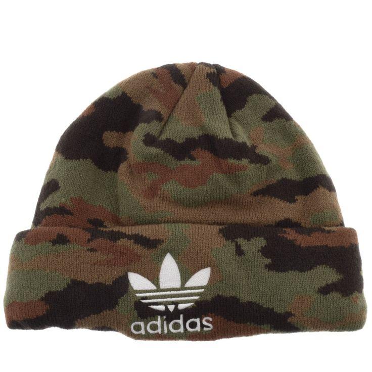 Adidas Originals Camo Beanie Hat Green | Mainline Menswear