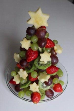Gezond kersttoetje. Ook mooi op buffettafel.