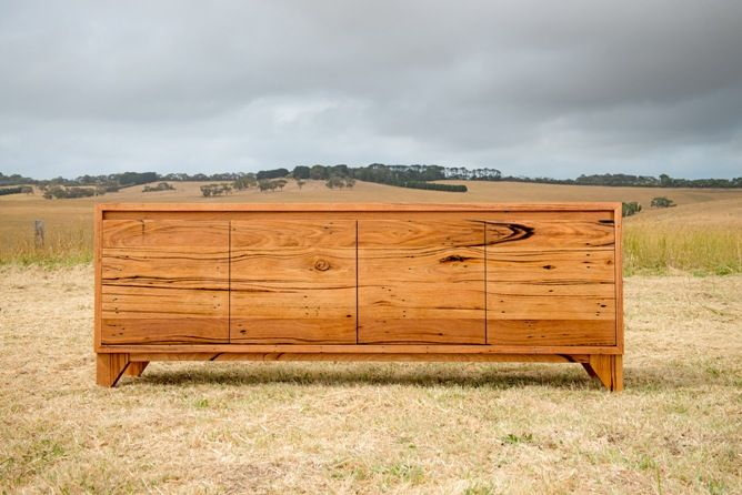 Wye River Buffet - character filled recycled timber buffet with tapered legs