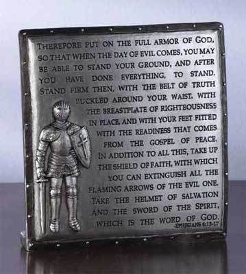 Full Armor Of God Plaque Confirmation Gift For Young Man