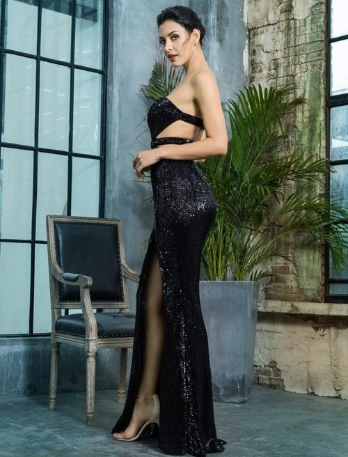 2e05ee157da Nora Black Sequin Gown in 2019 | SOMETHING | Prom dresses, Black ...