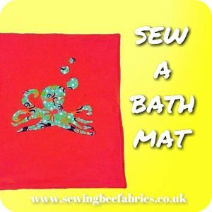 How to sew your own bath mat