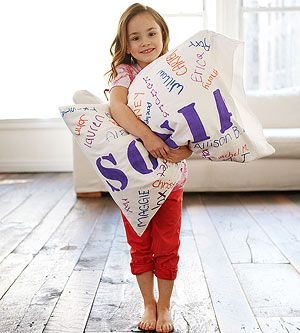 Sleepover Theme Idea: Have party guests write their name on a pillowcase or solid-colored sheets using fabric markers. The birthday child will have something to remember her special day for years to come.