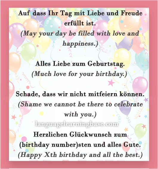 How to say Happy Birthday in German and other greetings