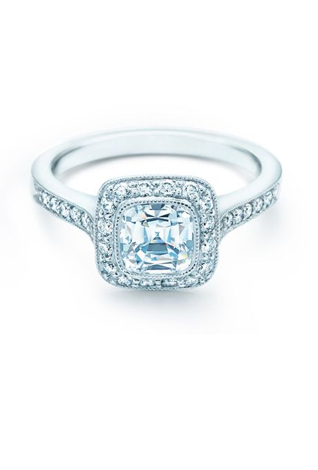 Legacy Cushion Cut Diamond Surrounded By Bead