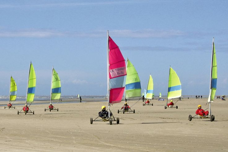 """Try a favorite pastime of locals,  le char à voile or """"sand yachting"""" while visiting Le Toquet, France"""