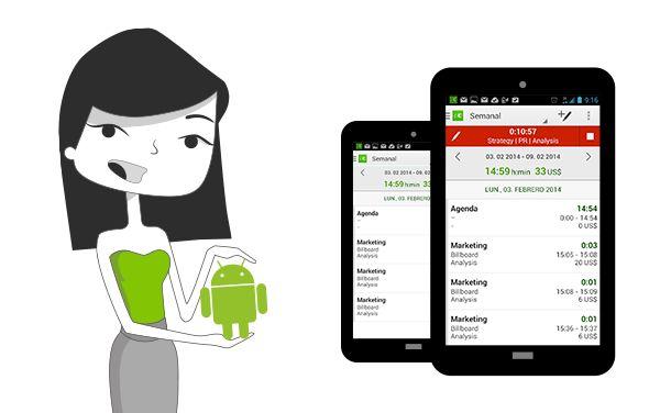 Android App gratuita para Registro de tiempo en tiempo real :-)