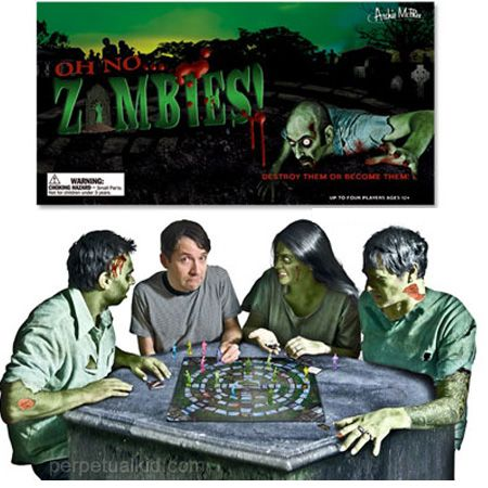 Oh No Zombies! Board Game    PERPETUALKID.COM