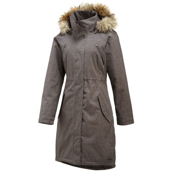 image of Lohri Long Insulated Parka 2L in Shadow Heather