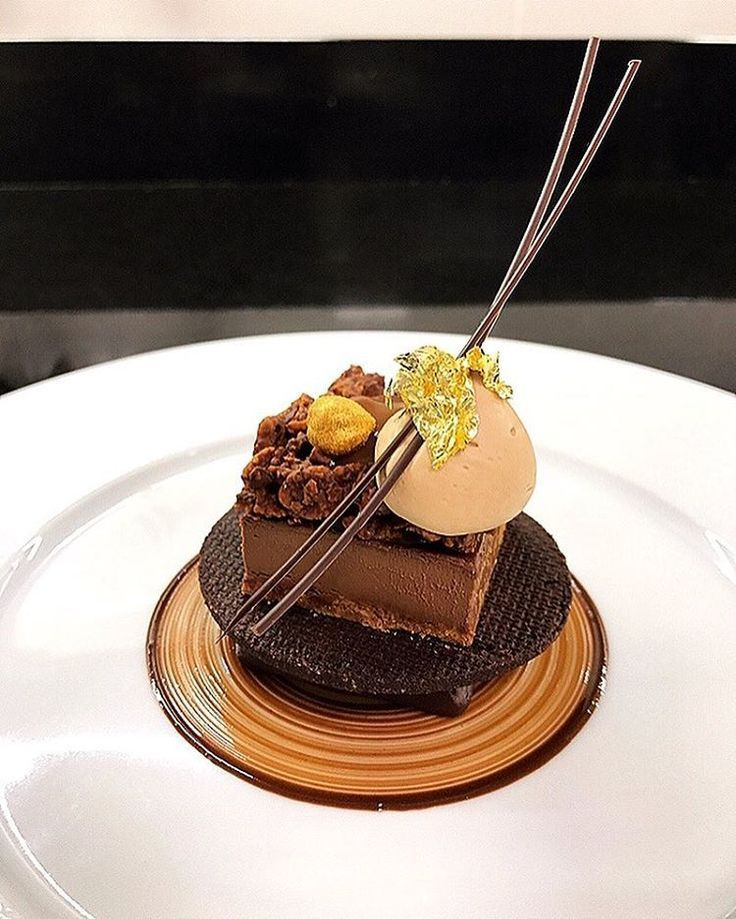 Image result for deconstructed sacher torte plated
