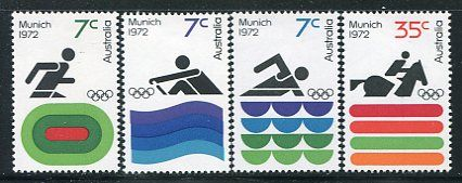 20th Summer Olympic Games - Munich Mint Set of 4 Australia, 1972