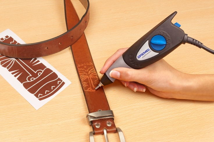 Customise your own belt with your Dremel Engraver.