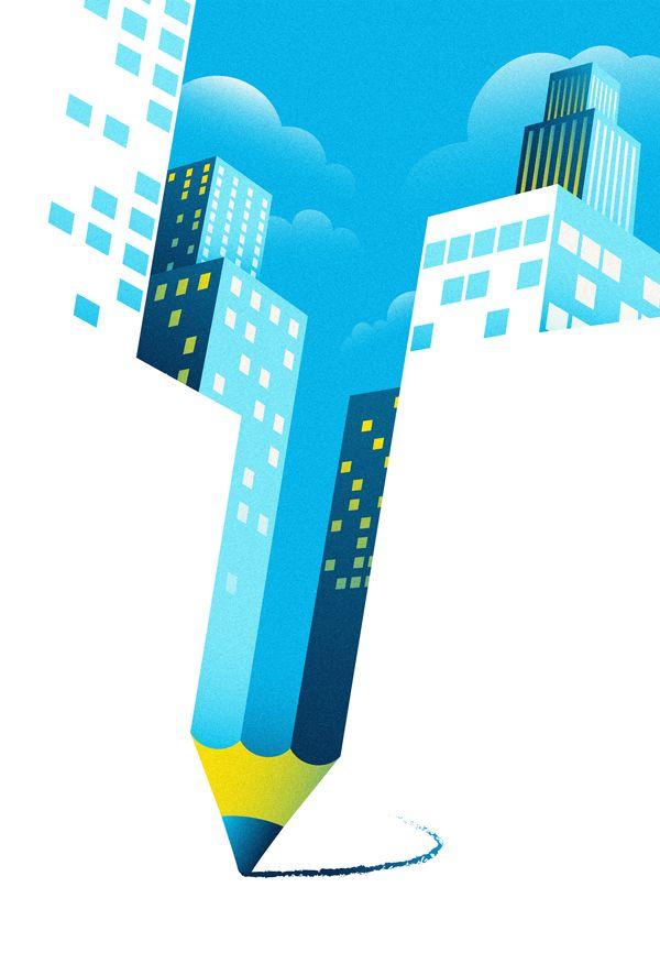 Editorial Illustrations: Part V #editorial #illustration #negative #space