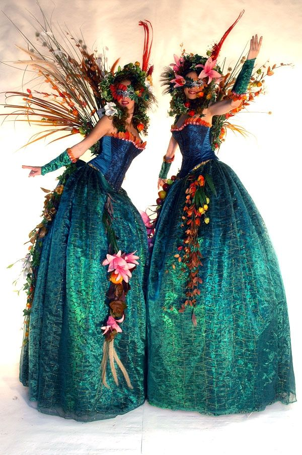 "Enchanted Forest Fairy Stilt Acts  http://bigfootevents.co.uk/weddings/Themed-Weddings-Venue-Decor/Fairytale-Wedding-Themes.aspx  I wish I could walk on stilts!! But it would be cool to do some kind of ""sentries"" by an entrance...not necessarily real people...:"
