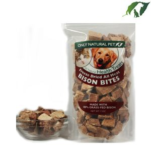 Only Natural Pet All Meat Bites Freeze-Dried Bison Formula Raw Pet Treats   Pet Food Direct
