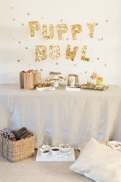 Ok, this Puppy Bowl is way too cute! http://www.stylemepretty.com/living/2015/01/27/puppy-bowl/ | Photography: Ruth Eileen - http://rutheileenphotography.com/