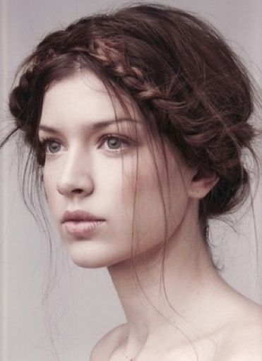 Chic Vintage Braids / Beautiful wispy braid updo - see more of the Braid Trend at this Pinterest board