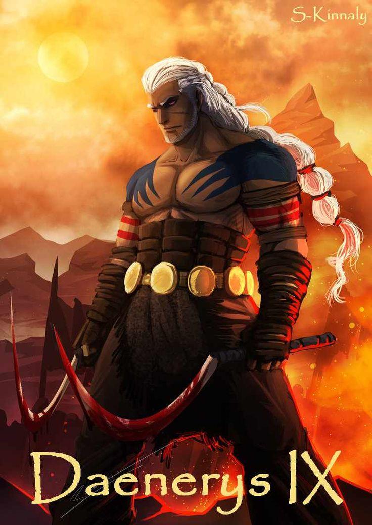 AGoT Daenerys IX banner - Rhaego Targaryen by S-Kinnaly