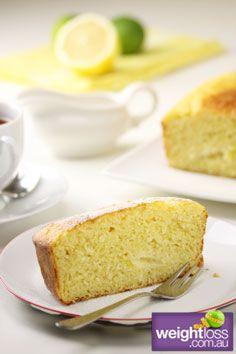 Healthy Cakes Recipes: Lemon Lime Tea Cake. #HealthyRecipes #DietRecipes #WeightlossRecipes weightloss.com.au