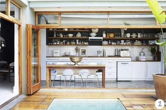 kitchen off a courtyard