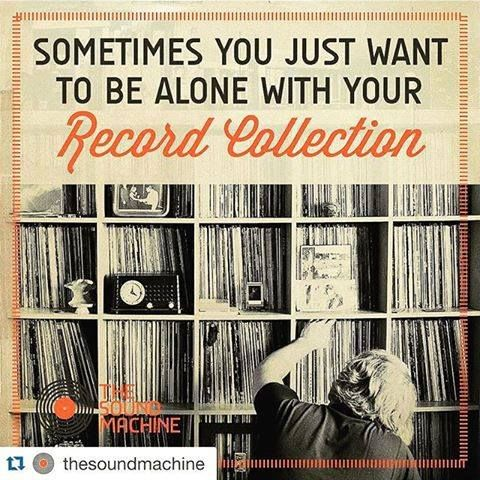 Sometimes you just want to be alone with your record collection.