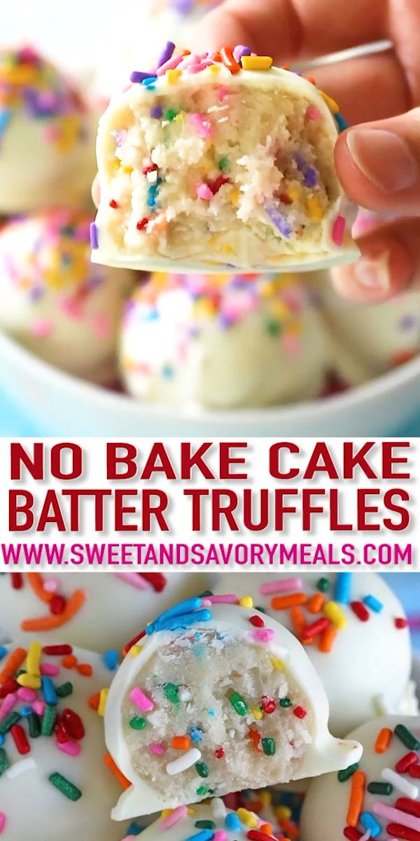 No Bake Cake Batter Truffles [Video] – Sweet and Savory Meals