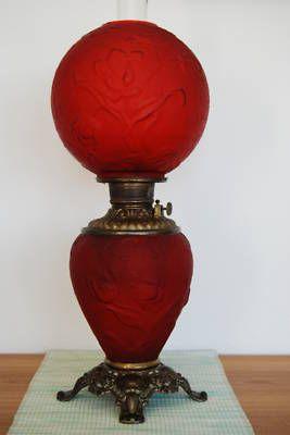 FOSTORIA KEROSENE OIL BANQUET VICTORIAN EAPG LAMP Circa 1890's
