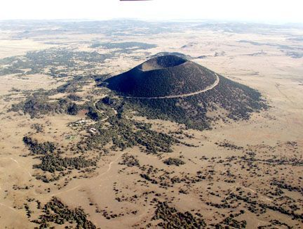 Located 2 hours west of Black Mesa State park in the Oklahoma panhandle, Capulin Volcano National Monument's highest point provides unobstructed, panoramic views of the volcanic field, distant snow-capped mountains portions of 4 states (NM, OK, TX CO).