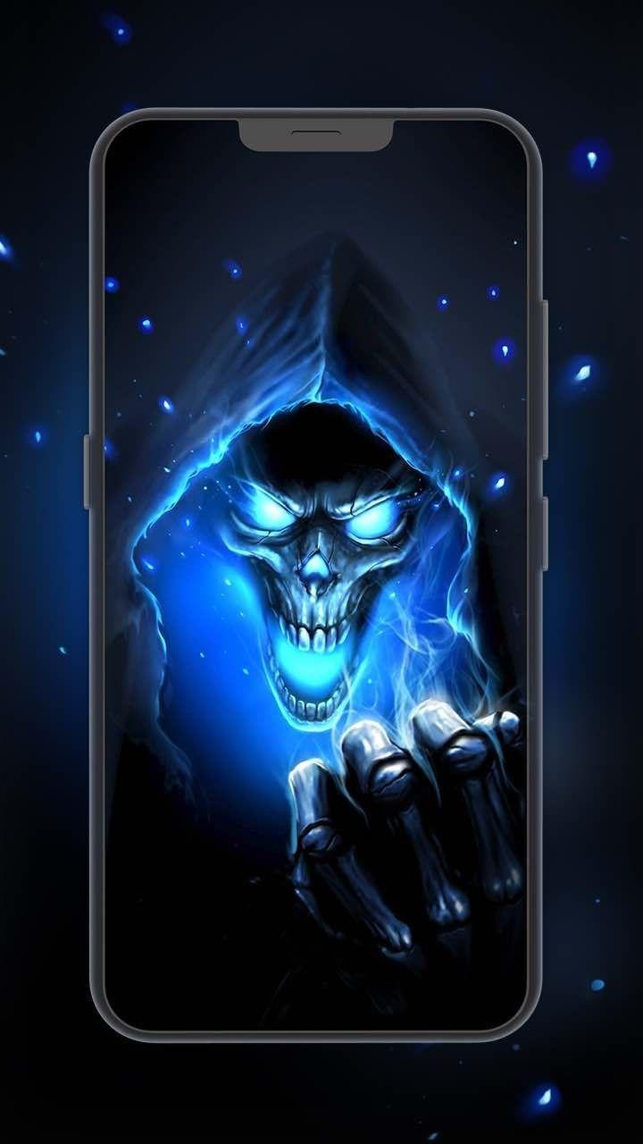 Pin By David Morgan On Grim Reaper Skull Wallpaper Grim Reaper Skull Pictures