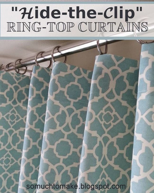Hide The Clip Ring Top Curtains Curtains Homemade Curtains Curtains With Rings