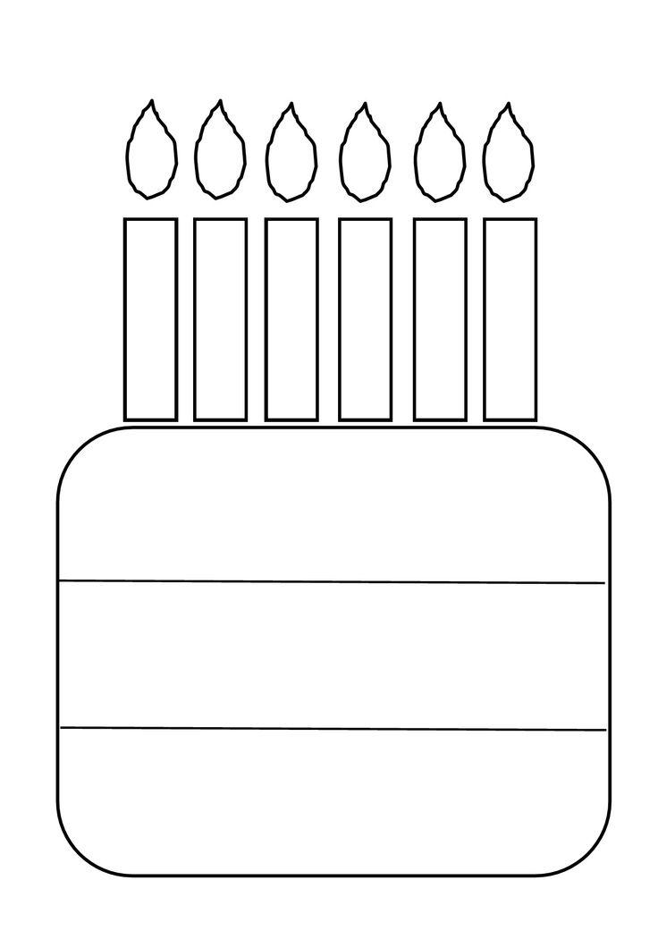 Verjaardagskalender. Eerste rij naam, tweede rij eigen versiering, onderste rij datum