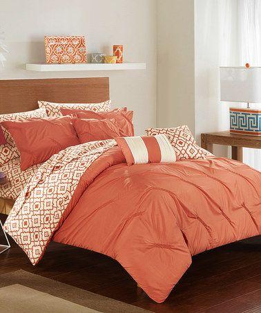 brick u0026 white marquette reversible comforter set zulilyfinds