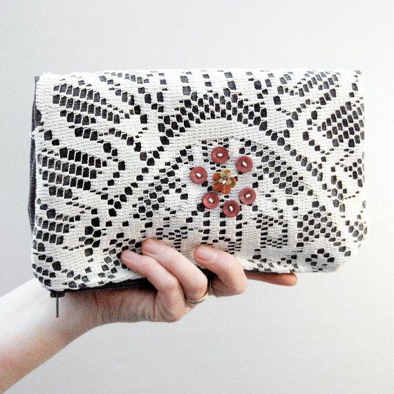 Denim Clutch Bag Fold Over Denim Navy Blue by MartisanneHandmade, £17.50 #mentionmonday #goodies #gifts