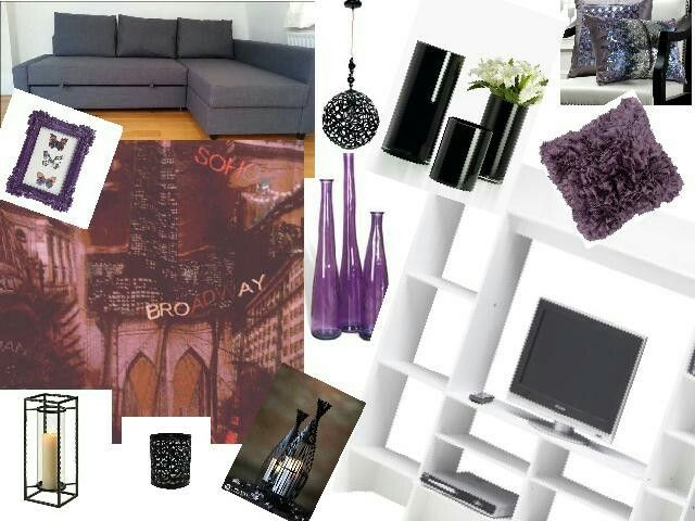Best 25 purple grey rooms ideas on pinterest living - Purple black and grey living room ...