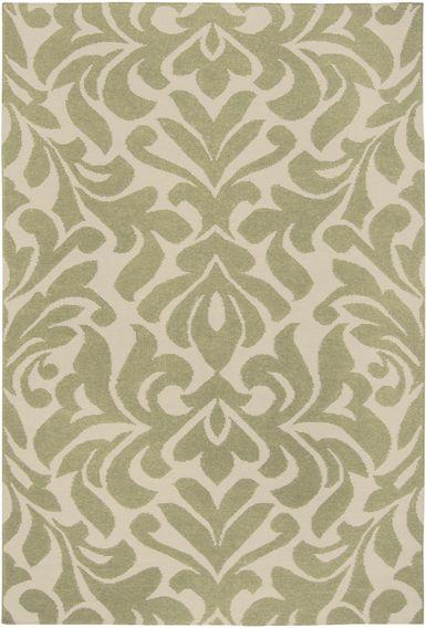 Awesome Cream And Sage Green Area Rug