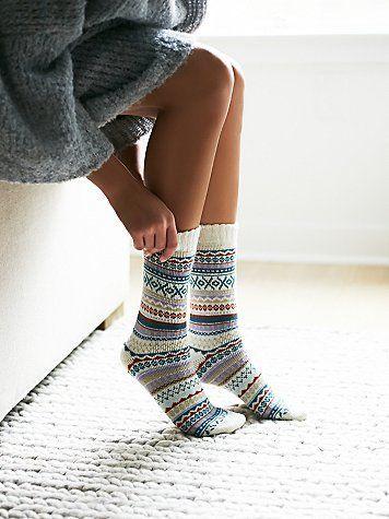 Haydon Fairisle Sock