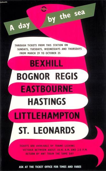 Vintage travel poster to British Seaside