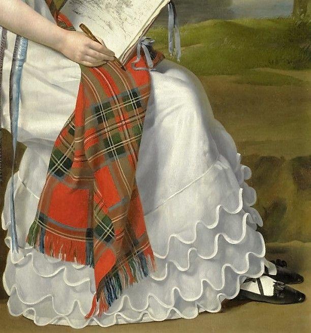 Portrait of a Woman painting landscape - unknown artist