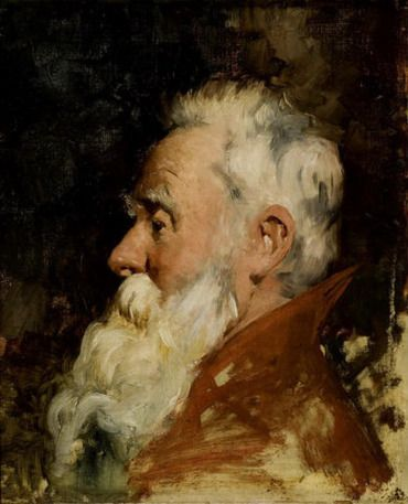 .:. Γύζης Νικόλαος – Gyzis Nikolaos [1842-1901]  Head of man with beard