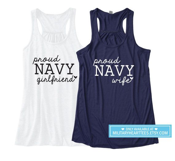 Custom Proud Navy Racerback Tank Top Navy by MilitaryHeartTees