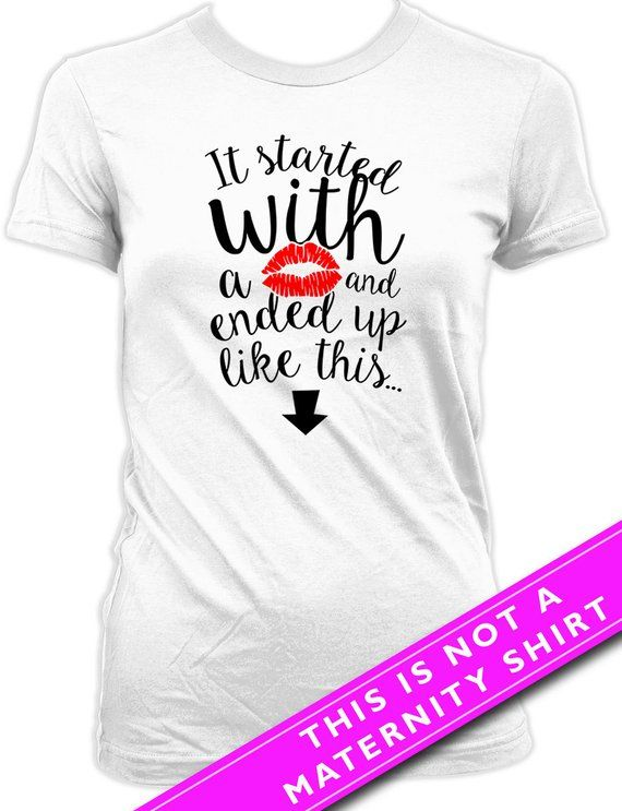75e51fc3 Funny Pregnancy T Shirt Pregnancy Announcement Baby Announcement Pregnancy  Reveal It Started With A