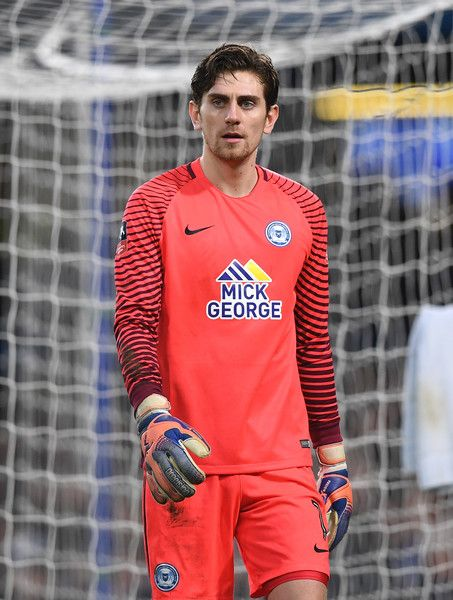 Luke McGee of Peterborough United in action during The Emirates FA Cup Third Round match between Chelsea and Peterborough United at Stamford Bridge on January 8, 2017 in London, England.