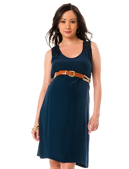 cute belted maternity dress. would look super cute wit cowboy boots
